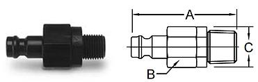 Parker Spectrum Series-Male Pipe Valved Nipple