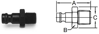 Parker Spectrum Series-Male Pipe Unvalved Nipple