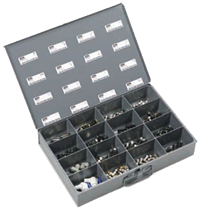 16-compartment parts bin