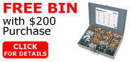 Free Bin with $200 Purchase
