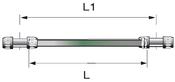 Transair Aluminum Pipe - Green 63(mm)