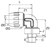 Transair 90° Connectors