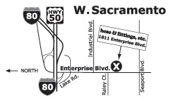 Map of ParkerStore in West Sacramento, CA