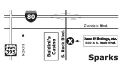 Map of ParkerStore in Sparks, NV