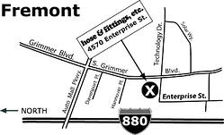 Map of ParkerStore in Fremont, CA