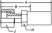 Parker LV series 1JSLV hose fitting