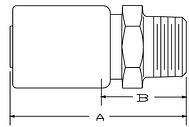 Parker SQ series 101SQ hose fitting