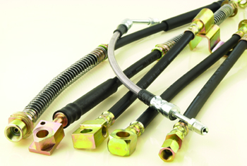 Rubber brake hose assemblies