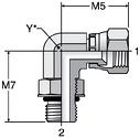 Parker AOEX6 - JIC Swivel Elbow Straight Thread Connector