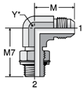 Parker C4OMX - JIC Male Elbow - BSPP