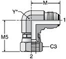 Parker C6XO - JIC Swivel Nut Elbow
