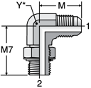 Parker C8OMX - JIC Male Elbow - Metric-ORR
