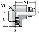 Parker DTX - JIC Female Elbow