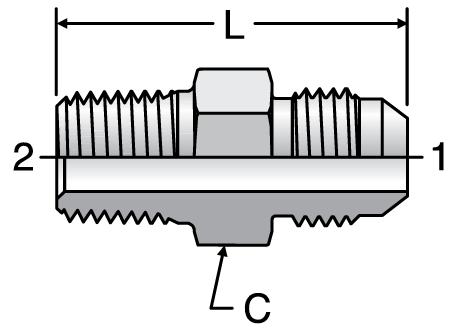 Parker F3MX - JIC Male Connectors-BSPT