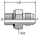 Parker F4OMX - JIC Male Connectors-BSPP