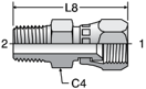 Parker F63MX - JIC Swivel-BSPT Connectors