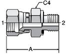 Parker F682EDMX - JIC Straights
