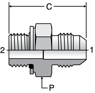 Parker F8OMX - JIC Metric Male Connectors