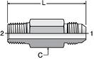 Parker FFTX - JIC Long Male Connectors