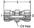 Parker HX6 - JIC Swivel Nut Unions