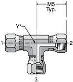 Parker JX6 - JIC Swivel Nut Union Tee