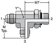 Parker R87OMX - JIC ISO 6149 Run Tee