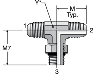 Parker S5OX - JIC Straight Thread Branch Tee