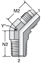 Parker V3MX - JIC Male 45° Elbow – BSPT