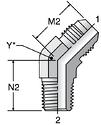 Parker VTX - JIC 45° Male Elbow