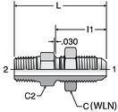 Parker WFTX - JIC Male Bulkhead Connectors