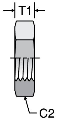 Parker WLN - JIC Bulkhead Locknuts