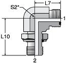Parker C8OMLO - ORFS Metric Straight Thread Elbow
