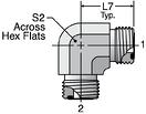 Parker EMLO - ORFS Metric Union Elbow Straight