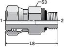 Parker F687OML - ORFS Swivel ISO 6149 Connector
