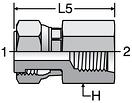 Parker G65L - ORFS Straight Thread Swivel Female Connector