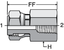 Parker G6L - ORFS Female Pipe Thread Swivel Connector