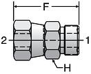 Parker LOHL6 - ORFS Tube End Extender/Expander