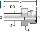 Parker LOHT3 - ORFS Tube Stub Connector Straight