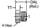 Parker PNLO - ORFS Plug