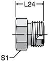 Parker PNMLO - ORFS Metric Plug