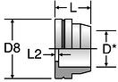 Parker TLS - ORFS Metric Braze Sleeves
