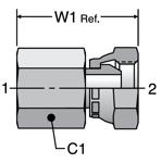 Parker Female Pipe Swivel Adapters
