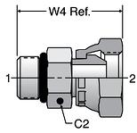 Parker Male Pipe Swivel Adapters