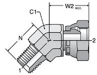 Parker 45° Male Pipe Swivel Elbows