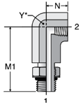 Parker Extra Long Female Pipe Elbow