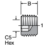 Parker Hollow Hex Pipe Plug