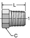 Parker Hex Head Pipe Plug