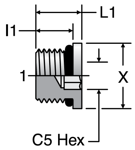 Parker Hollow Hex Plug