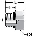 Parker Hex Head Plug