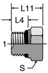 Parker ISO 6149 Hex Head Plug
